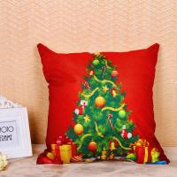 Buy cheap Festival Decoration Pillow Cushion Covers Square Shape With Printed Christmas from wholesalers