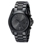 China Michael Kors Men's Bradshaw Chronograph 100m Black Stainless Steel Watch MK5550 wholesale