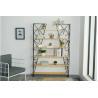 Buy cheap Nordic iron bookshelf, creative wood shelf,simple modern living room storage rack from wholesalers