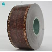 Transfer Brown Cork Tipping Paper With Words Design , Tobacco Filter Paper 36gsm