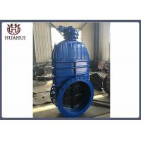 China Double Flanged Resilient Seated Gate Valve Gearbox Operated DN600 For Fire Protection wholesale