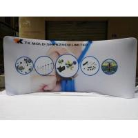China 10FT Curved Waveline Lightweight Trade Show Displays , Stretch Fabric Display wholesale