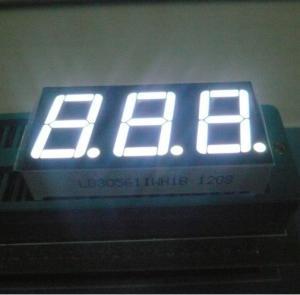 "China 14.2mm(0.56"") White 7 - Segment LED Display 3 Digit for digital Temperature /Humidity indicators wholesale"