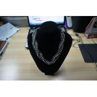 Quality Graceful OEM /ODM mixed metal necklaces with rhinstones (Gold , silver, black , for sale