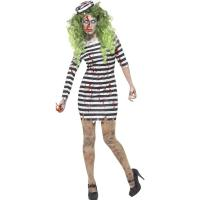 China Halloween Police Party Adult Costumes Zombie Jail Bird Convict Girl wholesale