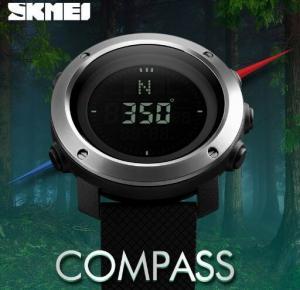 China Skmei Men  Outdoor Elite Sport Waterproof 50m Compass 3 Alarm 48 World Time Chronograph Wrist Watches  1293 wholesale