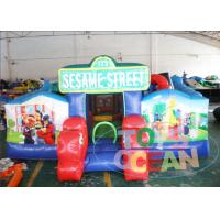 China Sesame Street Playground Inflatable Bouncer Combo Castle Moon Walking Toddlers wholesale