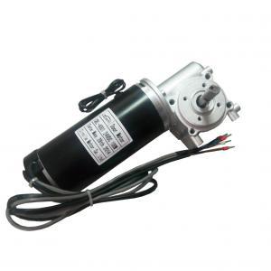 China Brake with Door opener motor for blush Door Motor 24VDC 65W 3200RPM black coating wholesale