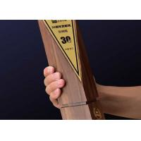 China Solid Wooden Shield Plaque Lightweight Agent / Employee Awards At Year End Party wholesale