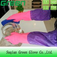 China Cleaning Washing Waterproof Pvc Thick Acid And Alkali Resistant Gloves on sale