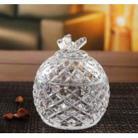 China Gift Glass Sugar Pot / House Decoration Glass Candy Jar / Glassware wholesale