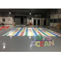 China Adults / Kids Inflatable Sport Game 6 X 6m Square Giant Twister Game Mat For Outdoor wholesale