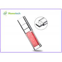 China Transparent crystal red decoration screen novelty flash drives Promotional gift wholesale