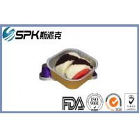 China Airline Snacks Disposable Aluminum Baking Pans , Aluminum Foil Cake Pans wholesale