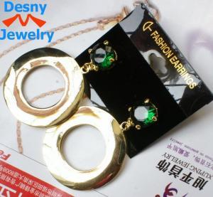 China Daisy fashin ladies women green huge sparkle CZ diamond rhinestone dangle drop earrings wholesale