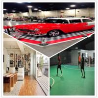 China Guangzhou Fireproof PVC floor/exhibitions Floor/gym floor/sport floor /Interlocking Floor wholesale