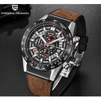 China Brand New Men Hight Quality Genuine  Leather Band Chronograph Calendar Waterproof Quartz Watches PD-2768 wholesale