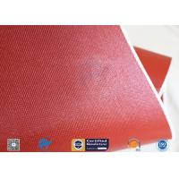 China Silicone Coated Fiberglass Fabric Thermal Insulation Materials 1010GSM 51 on sale