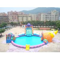 China Inflatable water park / inflatable pool park giant ocean slide air tight pvc tarpaulin wholesale