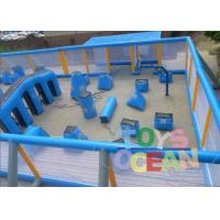 China Large Rectangle Paintball Air Bunkers Colored Security For Children wholesale