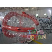 China Funny Red Color Inflatable Barf Ball Water Tube Playing On Water wholesale