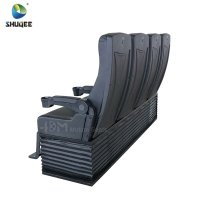 China 4D Cinema System PU Leather Motion Seat Black Color With 40 Seats wholesale