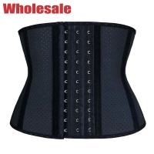 China Breathable Posture Short Torso Latex Waist Trainer 3XL Short Waist Corset wholesale