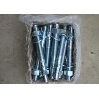 Quality Carbon Steel Material Wedge Anchor M12*100 With Blue & White Zinc Plated for sale