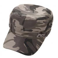 China Adjusteble Velcro Camouflage Baseball Hats With Metal Logo wholesale
