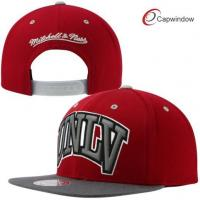 China Red / Grey Adjustable Snapback Baseball Caps with Acrylic and Wool Blended wholesale