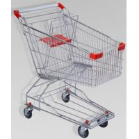 China 150L Large Elderly Supermarket Metallic Shopping Cart With Two Tier Wheels on sale
