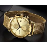 Quality Wholesale Fashion Steel Band 1/10 and 60 Second Timer 3 ATM Waterproof Quartz Wrist Watches C2023 for sale