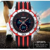 China SBAO Men Dual Time Fashion Sport Watches Steel Band Silicone Band Steel Bead Strap Optional  S-9010 wholesale
