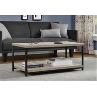 China Rustic Square Wood And Metal Coffee Table , Industrial Metal Coffee Table For Sitting Room wholesale