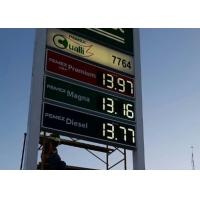 China 6 Inches Outdoor LED Gas Price Signs with High Brightness , led price display wholesale