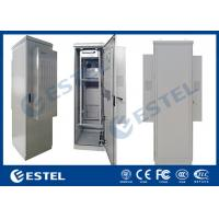China Aluminum Outdoor Rack Mount Enclosure Double Wall IP55 With Front Rear Access wholesale