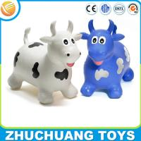 China OEM kids plastic toy jumping cow animal ride wholesale