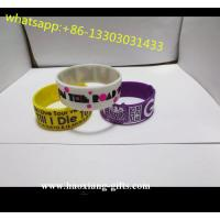 China silicone material rubber bracelet for couple fitness sports&promotion wholesale