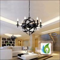 China The Globe Antique Wrought Iron Chandelier, Contracted Sitting Room Chandelier wholesale