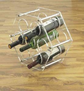 China OEM Stainless Steel, Clear Acrylic display unit  wine / beer Bottle Display Rack / Holder wholesale