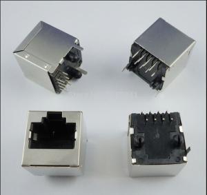 China PBT Or Nylon Housing PCB Jack Socket 8 pin Rj45 Vertical Type on sale