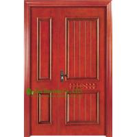 China Soundproof Timber Veneer Wood Front Door Manufacture, Modern Composited Timber Door Design on sale