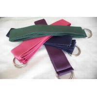 China Heavy Duty Yoga Stretch Strap Double Metal D Ring Custom Elastic Band wholesale