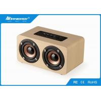 China Portable Wooden Wireless Speakers , Wood Grain Bluetooth Speaker Stereophonic Sound wholesale