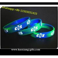 China Sport silicone wristband/bracelet for sale Printing / Debossed / Embossed logo wholesale