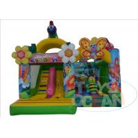 China Honey Bee Flower Inflatable Bouncer House With Slide 5 x 5M EN14960 CE wholesale