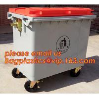 China Trash Can industrial trash bin, Control Liter HDPE Outdoor Plastic Trash Can plastic street waste bin with pedal on sale