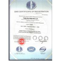 Nanjing xidiou stainless steel co,.ltd Certifications