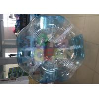 China 1.8m PVC Blue Clear Inflatable Bumper Ball  for human bubble football game wholesale