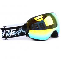 Otg Design Uv Protection Mirrored Snow Goggles With Spherical Detachable Lens